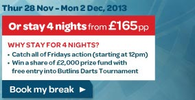 Cash Converters Players Championship Fri 29 Nov - Mon 2 Dec, 2013 Butlins Minehead, Somerset