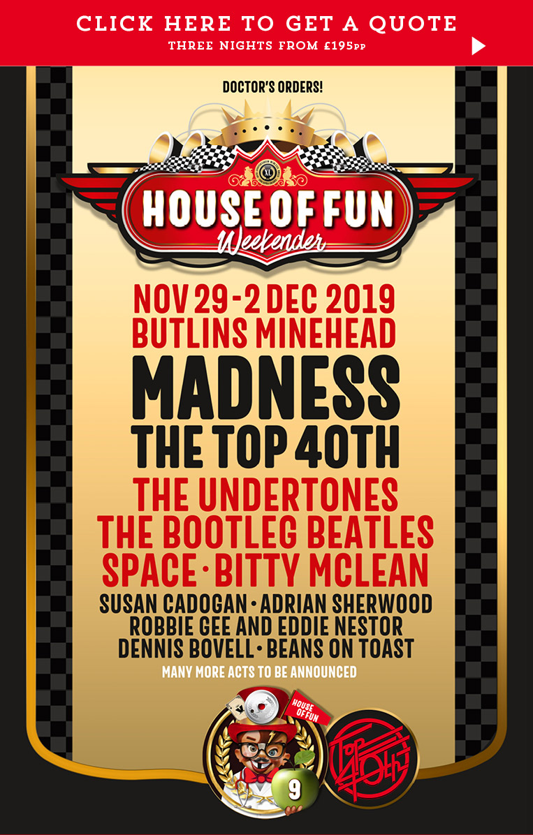 Butlins Live Music Weekend Madness House of Fun Weekender