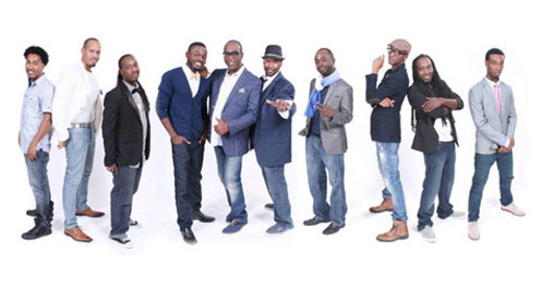 The Commodores founder Thomas McClary and his band