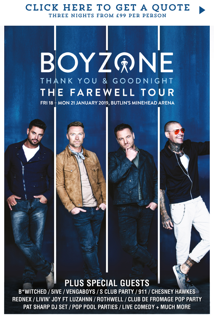 Butlins Live Music Weekends - Boyzone: The Farewell Tour